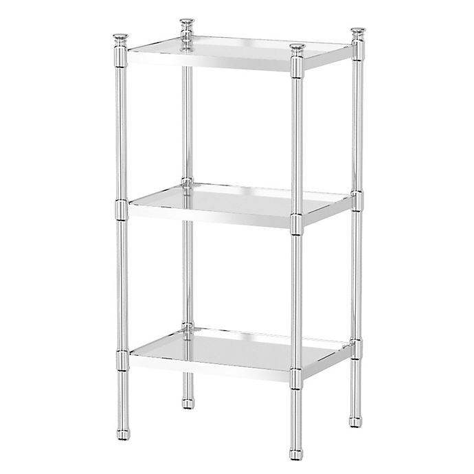 Alternate image 1 for Gatco Taboret 3-Tier Glass and Metal Shelving Unit in Chrome