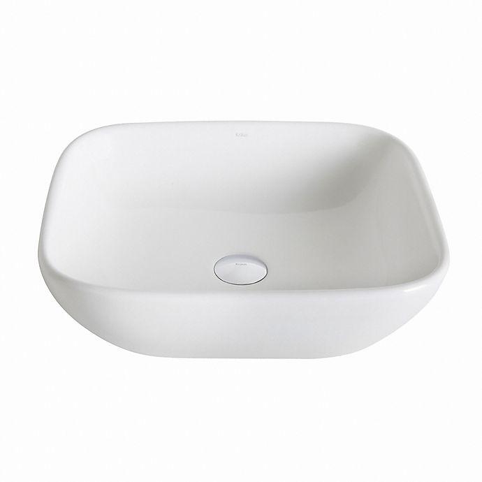 Alternate image 1 for Kraus 18.5-Inch Elavo Ceramic Square Sink in White