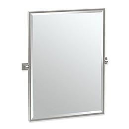 Gatco® Elevate 25-Inch x 24.5-Inch Rectangular Framed Mirror in Satin Nickel