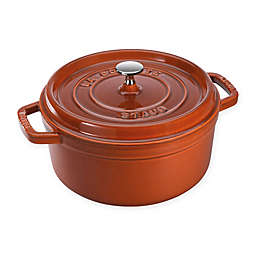 Staub Round French Cocotte in Burnt Orange