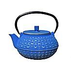 Old Dutch International Yorokobi 32 oz. Cast Iron Tea Pot in Silver/Blue