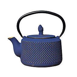 Old Dutch International Matsukasa 28 oz. Cast Iron Teapot in Blue/Gold