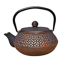 Old Dutch International Amai 24 oz. Cast Iron Teapot in Black/Copper
