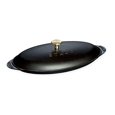 Staub 14.5-Inch Covered Fish Pan in Matte Black