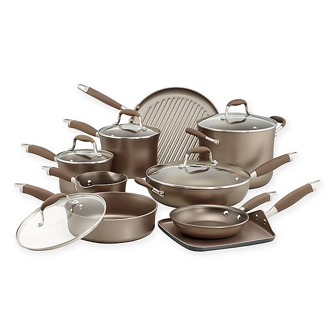 Alternate image 1 for Anolon® Advanced Umber 14-Piece Cookware Set