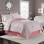 Juniper 8-Piece King Comforter Set in Coral/Grey
