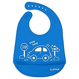 Kushies® My Car Silicatch Bib in Blue