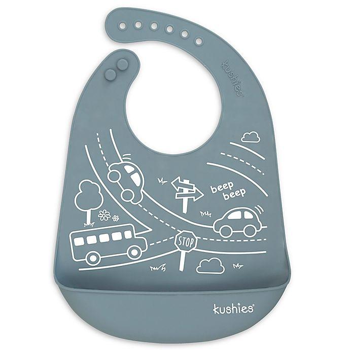 Alternate image 1 for Kushies® Road Trip Silicatch Bib in Grey