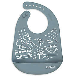 Kushies® Road Trip Silicatch Bib in Grey