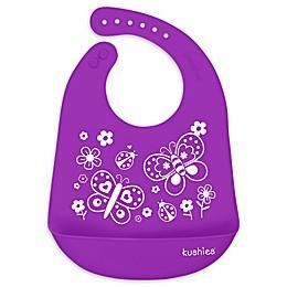 Kushies® Butterfly Kiss Silicatch Bib in Purple
