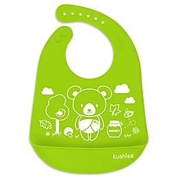 Kushies® Baby Bear Silicatch Bib in Citrus Green