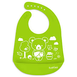 Kushies® Baby Bear Silicatch Bib in Citrus Green