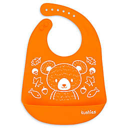 Kushies® Mama Bear Silicatch Bib in Carrot Orange