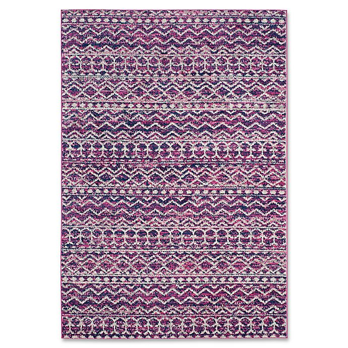 Alternate image 1 for Safavieh Madison Lyanna 3-Foot x 5-Foot Accent Rug in Fuchsia/Navy