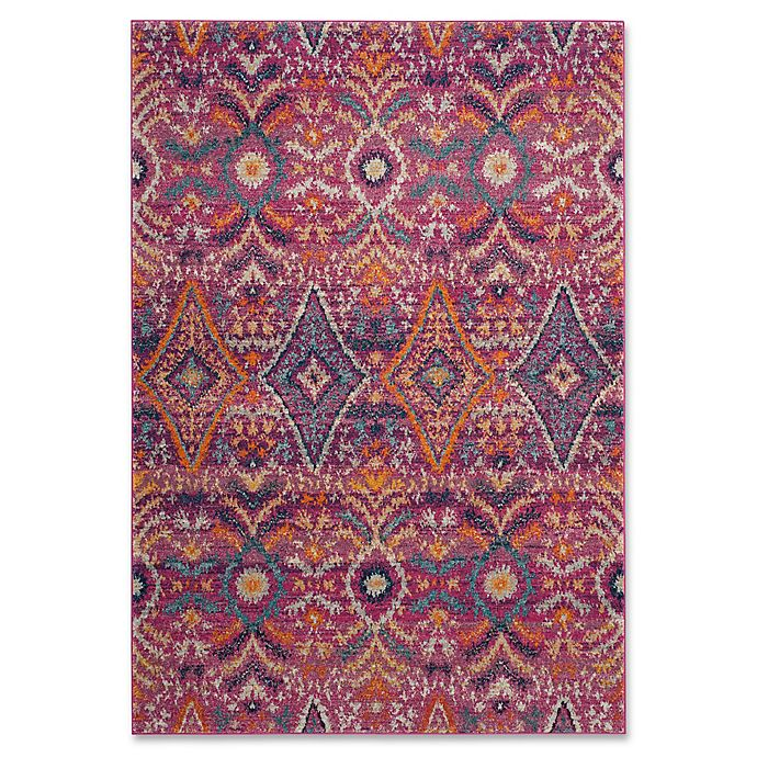 Alternate image 1 for Safavieh Madison Roslin 4-Foot x 6-Foot Area Rug in Fuchsia/Multi