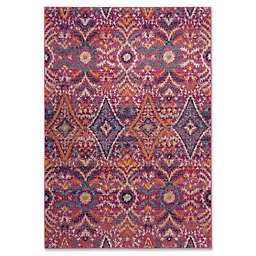 Safavieh Madison Roslin 6-Foot 6-Inch x 9-Foot 3-Inch Area Rug in Fuchsia/Multi