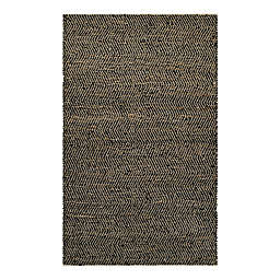 Couristan® Nature's Elements Ice 4-Foot x 6-Foot Area Rug in Black