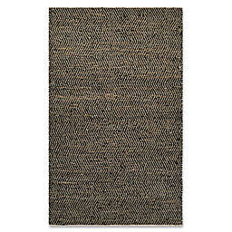 Couristan® Nature's Elements Ice 5-Foot x 8-Foot Area Rug in Black