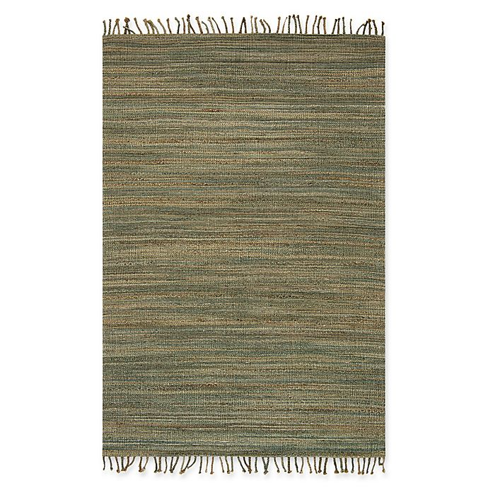 Alternate image 1 for Magnolia Home by Joanna Gaines Drake 2-Foot 3-Inch x 3-Foot 9-Inch Accent Rug in Lagoon