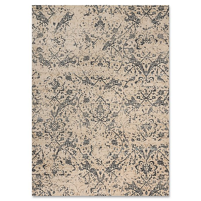 Alternate image 1 for Magnolia Home By Joanna Gaines Kivi 5-Foot 3-Inch x 7-Foot 8-Inch Area Rug in Ivory/Ink