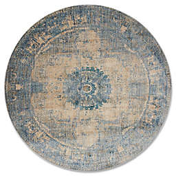 Magnolia Home By Joanna Gaines Kivi 5-Foot 3-Inch Round Area Rug in Sand/Sky