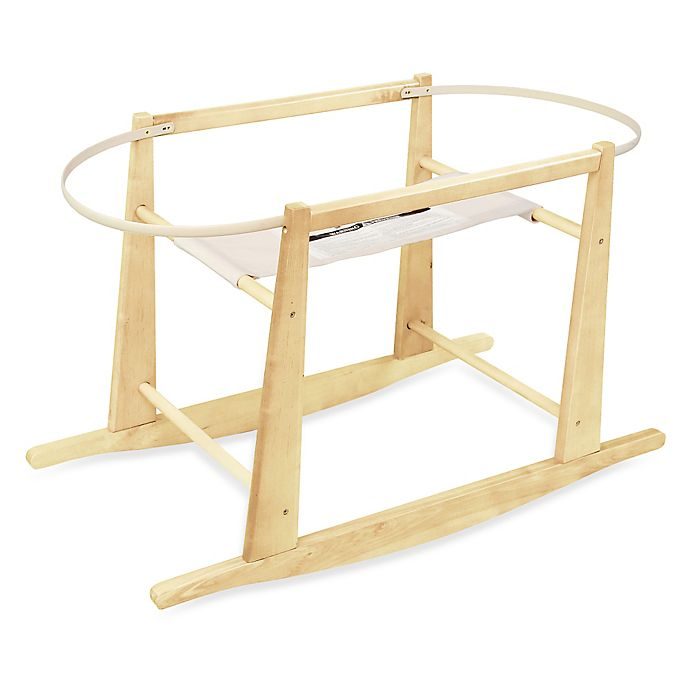 Alternate image 1 for Jolly Jumper® Rocking Moses Basket Stand in Natural