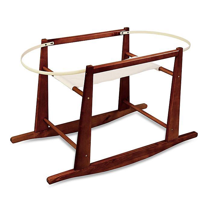 jolly jumper rocking moses basket stand in cherry. Black Bedroom Furniture Sets. Home Design Ideas