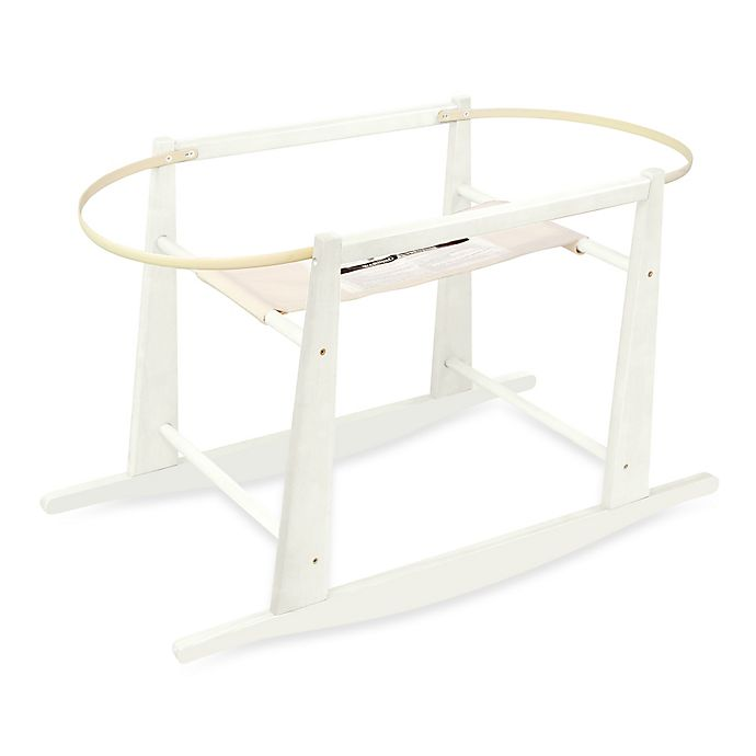 Alternate image 1 for Jolly Jumper® Rocking Moses Basket Stand in Antique White