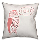Designs Direct Little Lady Collection Be Hoo You Are Throw Pillow in Coral/White