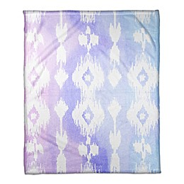 Designs Direct Little Lady Collection Ikat Blanket in Blue/Pink