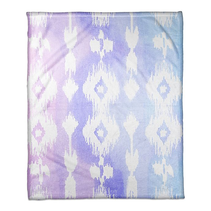 Alternate image 1 for Designs Direct Little Lady Collection Ikat Blanket in Blue/Pink