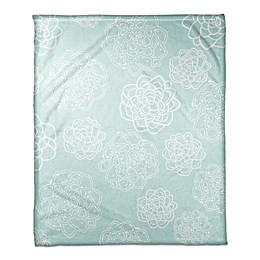 Designs Direct Little Lady Collection Floral Blanket in Teal