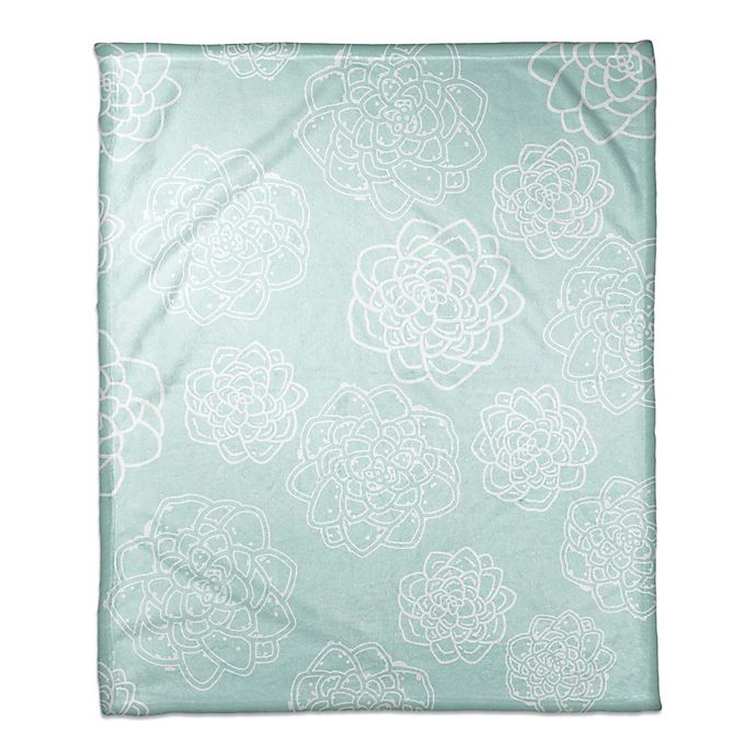 Alternate image 1 for Designs Direct Little Lady Collection Floral Blanket in Teal
