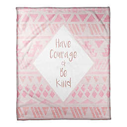 Designs Direct Little Lady Collection Have Courage & Be Kind Blanket in Pink
