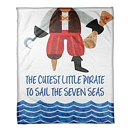 Designs Direct First Mate Collection Cutest Little Pirate Blanket