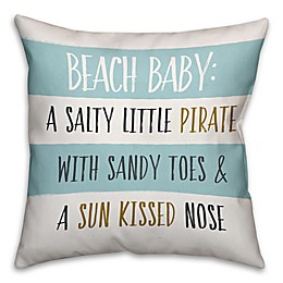 Designs Direct First Mate Collection Beach Baby Throw Pillow in Blue