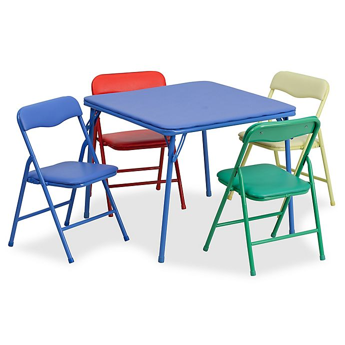Alternate image 1 for Flash Furniture Kids Colorful 5-Piece Folding Table and Chair Set