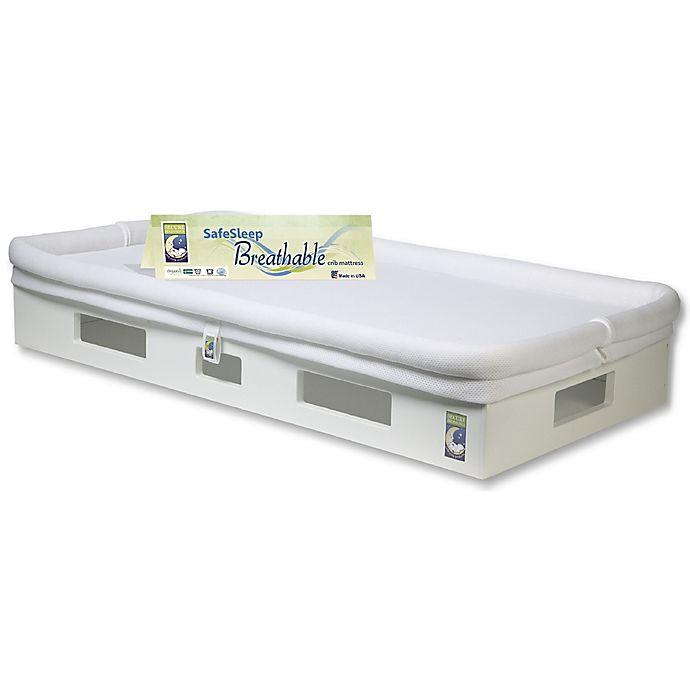 Alternate image 1 for Secure Beginnings SafeSleep Breathable Crib Mattress in White/White