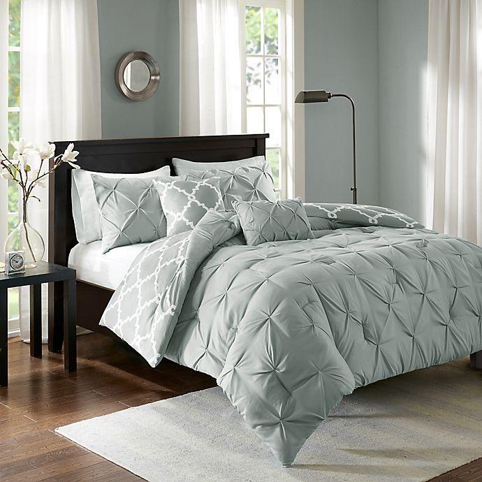 Alternate image 1 for Madison Park Essentials Kasey 5-Piece Reversible King/California King Comforter Set in Grey