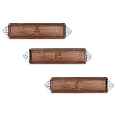 The Cutting Board Company 22-Inch x 5-Inch Wood Monogram Block Letter Bread Board in Walnut