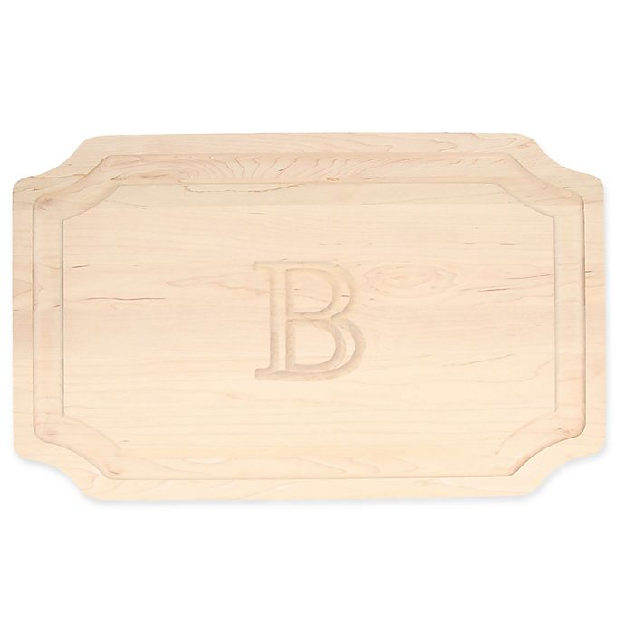 Alternate image 1 for The Cutting Board Company 15-Inch x 24-Inch Monogram Letter \