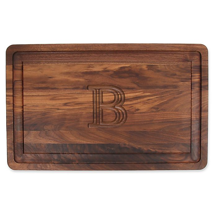 Alternate image 1 for The Cutting Board Company 24-Inch x 15-Inch Wood Monogram Letter \