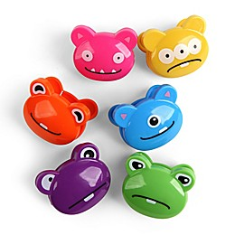 Kikkerland® Food Storage Seal Tight Monster Bag Clips (Set of 6)