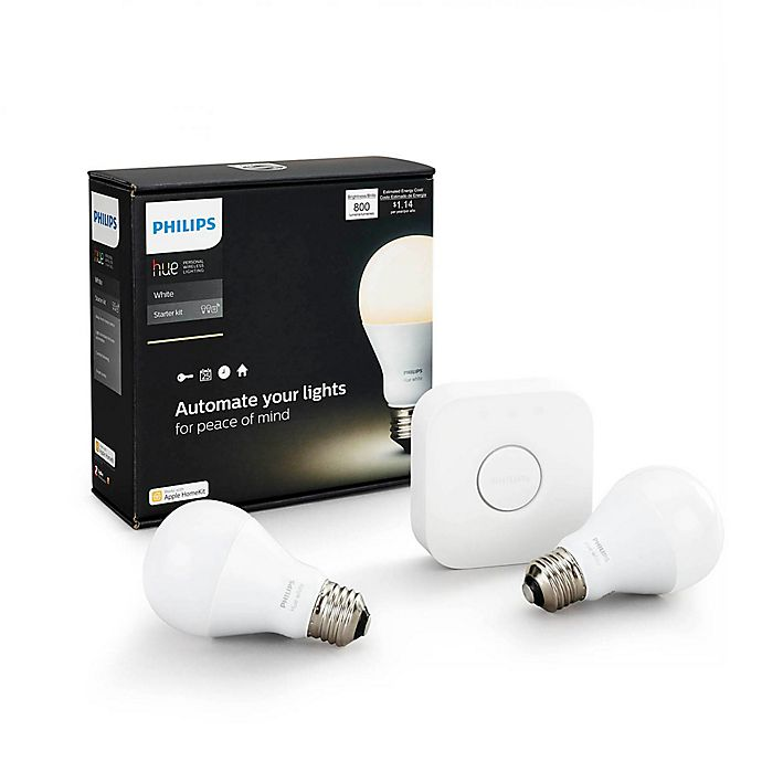 Alternate image 1 for Philips Hue White A19 Starter Kit