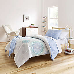 Brianne Cool 6-8 Piece Comforter Set in Blue/Green