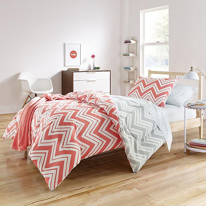 Alternate image 1 for Cait 6-8 Piece Comforter Set in Pink/Grey