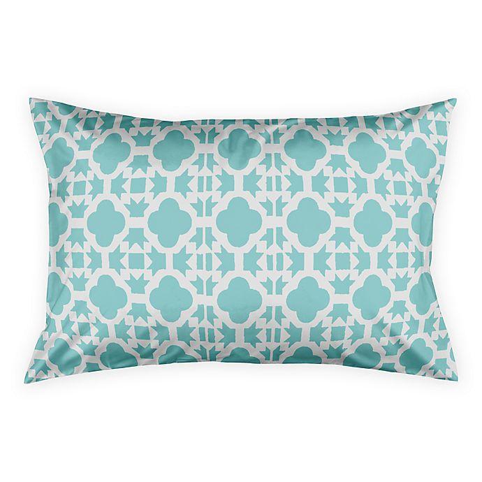 Alternate image 1 for Geo Prep Tile Standard Pillow Sham in Blue
