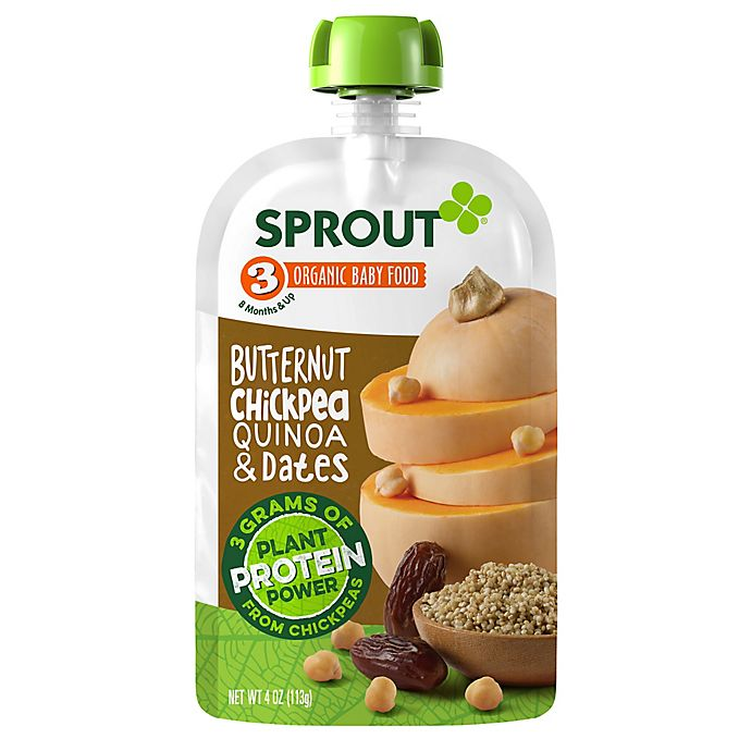 Alternate image 1 for Sprout® 4 oz. Stage 3 Organic Baby Food in Butternut, Chickpea, Quinoa and Dates