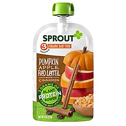 Sprout® 4 oz. Stage 3 Organic Baby Food in Pumpkin, Apple, Red Lentil and Cinnamon