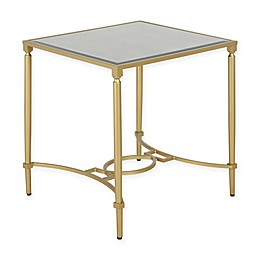 Madison Park Signature Turner  End Table in Antique Gold